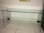 PROMOÇÃO - Mesa para escritório de vidro temperado, sob encomenda