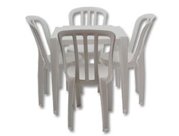 Conjunto Mesa de Plástico Goyana