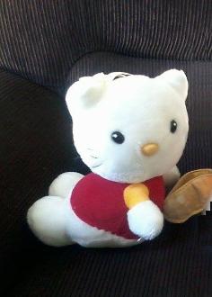 Urso da Hello Kitty com uns 25cm de altura