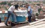 Limpador de calhas e caixas d água