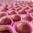 Mini bombons diamantes de chocolate