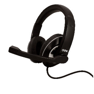 Oex Fone de Ouvido Headset Prime USB com Microfone HS-201 Preto