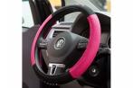 Capa para Volante Type R Rosa  em tecido Bordado
