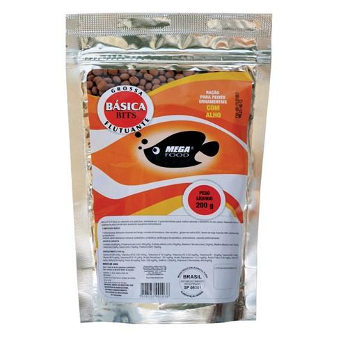 Ração Mega Food Bits Bolinhas Flutuantes - Núm. 3 Ração Mega Food Bits Bolinhas Flutuantes Núm. 3 - 200gr