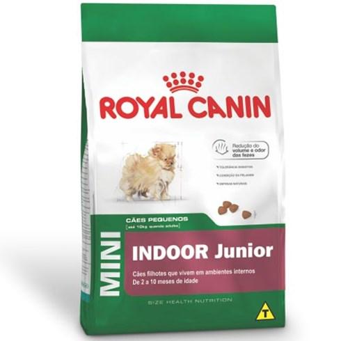 Ração Royal Canin Mini Indoor Junior para Cães Filhotes de Raças Pequenas Ambientes Internos Ração Royal Canin Mini Indoor para