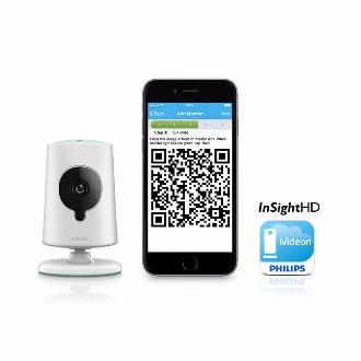 Philips Babá Eletrônica Câmera Wifi Visão Noturna Bs120s/10