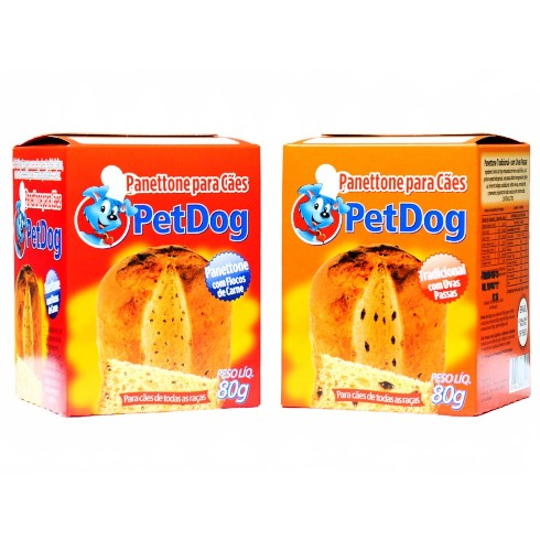 Panettone Pet Dog para Cães Sabor Tradicional - 80 g