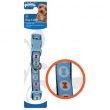 Coleira Pawise Azul com Estampa de Ossinho para Cães Coleira Pawise Azul com Estampa de Ossinho - Tam. M
