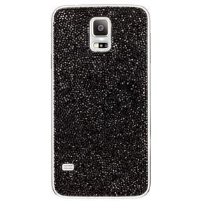 Tampa Traseira Samsung Preta Swarovski para Galaxy S5