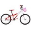 Bicicleta Infantil Aro 20 Houston Nina - Branco / Vermelho 6600978