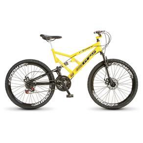 Bicicleta Dupla Suspensão Aro 26 21 Marcha Amarela 22001Colli