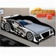 Cama Infantil Solteiro Carro Speed Racing 100% MDF Branco