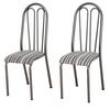 Conjunto de 2 Cadeiras Artefamol Preto / Listrado preto