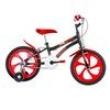 Bicicleta Infantil Aro 16 Houston Nic - Preta e Vermelha