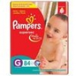 Fraldas Pampers Supersec Jumbo Bag G / Grande - 84 Unidades