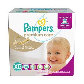 Fralda Pampers Premium Care Hiper XG - 48 Unidades