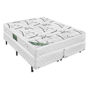 8d61c355ba Conjunto Cama Box Bipartido + Colchão Queen Size Minaspuma Eco Sleep com  Molas Bonnel e Pillow Top 61 x 158 x 198 cm Branco Bran