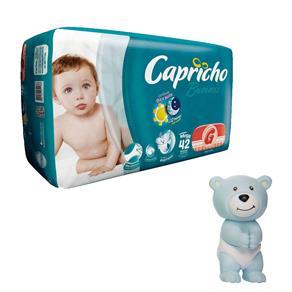 Fralda Capricho Bummis Mega G - 42 Unidades + Agarradinho Ursinho Azul Bummis Capricho 1000062301