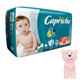 Fralda Capricho Bummis Mega G - 42 Unidades + Agarradinho Ursinho Rosa Bummis Capricho 1000062296