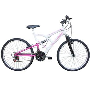 Bicicleta Aro 26 Mormaii Full FA 240 Suspension 18 Marchas Branco