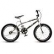 Bicicleta Cross Ride Extreme Aro 20 Cromada Preta 108.08 Colli