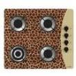 Cooktop Casavitra 4 Bocas Tripla Chama Animal Print Girafa - Bege e Marrom 7870941