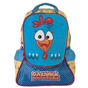 78bcc5002 Mochila Escolar Infantil P Xeryus de Costas Galinha Pintadinha Magic 5063 -  Azul 3659693