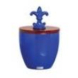 Vaso Pote de Cerâmica 24x16x24 Azul 35140 Mazzoti