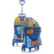 Mochila De Rodinhas Max Toy Infantil Azul Peixonauta