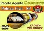 Video Aulas Concurso Agente Policial Sp Polícia Civil 17 Dvd´s