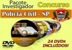 Video Aulas Concurso Investigador Polícia Civil Sp 24 Dvd´s