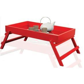 Bandeja para servir café da manhã espelhada e laqueada - Vermelho 9425771