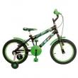 Bicicleta Mega 10 Verde E Preta Aro 16 - Mega Bike 9623475