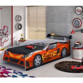 Cama Sport Car Com Aerofólio - Móveis Estrela - branco