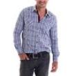 Camisa Masculina 4140302050006 Opera Rock - Xadrez Azul 3938943