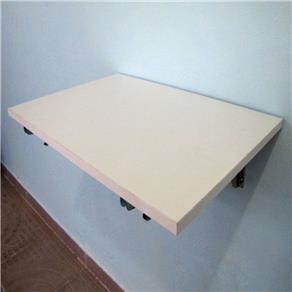 Mesa dobrável de MDF 90 x 45cm, na cor branca, para fixação em parede. 9681424