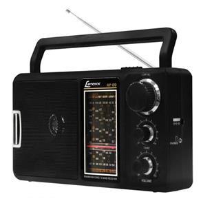 Rádio Portátil Rp - 69 Am / Fm Com Recepção De 12 Faixas Captação De Som De Tv E Auto - Falante - Lenoxx 8065582