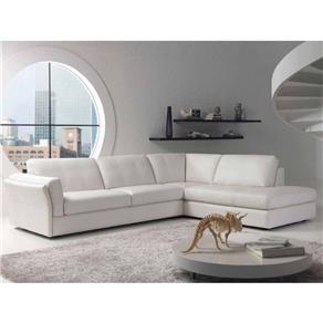Sofá de Canto Couro Sintético - CAT001 branco