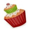 Bandeja Cupcake Santini Chrsitmas 063 - 620216 - 20cm 5880320