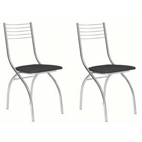 Cadeira Cromada Carraro Móveis Vita - Conjunto com 02 unidades 7271969