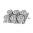 Porta Temperos Inox Magnético para 6 tipos de temperos 5226740