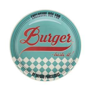 Prato Burger Raso com 26cm de Diamentro, Tematicos dos Anos 50 Blue 7478707