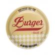 Prato Burger Raso com 26cm de Diamentro, Tematicos dos Anos 50 Yellow 7478709