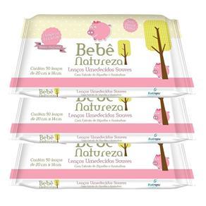 Lenços Umedecidos Bebê Natureza Rosa Leve 3 Pague 2 Unidades 9409700