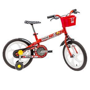 Bicicleta Infantil Aro 16 Caloi Minnie - Vermelha