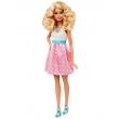 Boneca Barbie Fashionistas Vestido Branco com Rosa