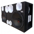 Caixa Trio Dois Subwoofer 12 ´ Bomber One + Driver + Tweeter + Modulos Taramps 7612037
