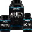 Combo Atlhetica - Whey Protein Sabor Chocolate + Bcaa 120 cápsulas + Creatina 100gr 5728653