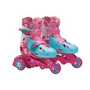Patins Ajustável 3 Rodas Barbie 29 a 32 com Kit Proteção 7785 - 5 - Fun 5569998