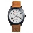 Relógio Curren 8139 Masculino Branco Pulseira De Couro 9106829